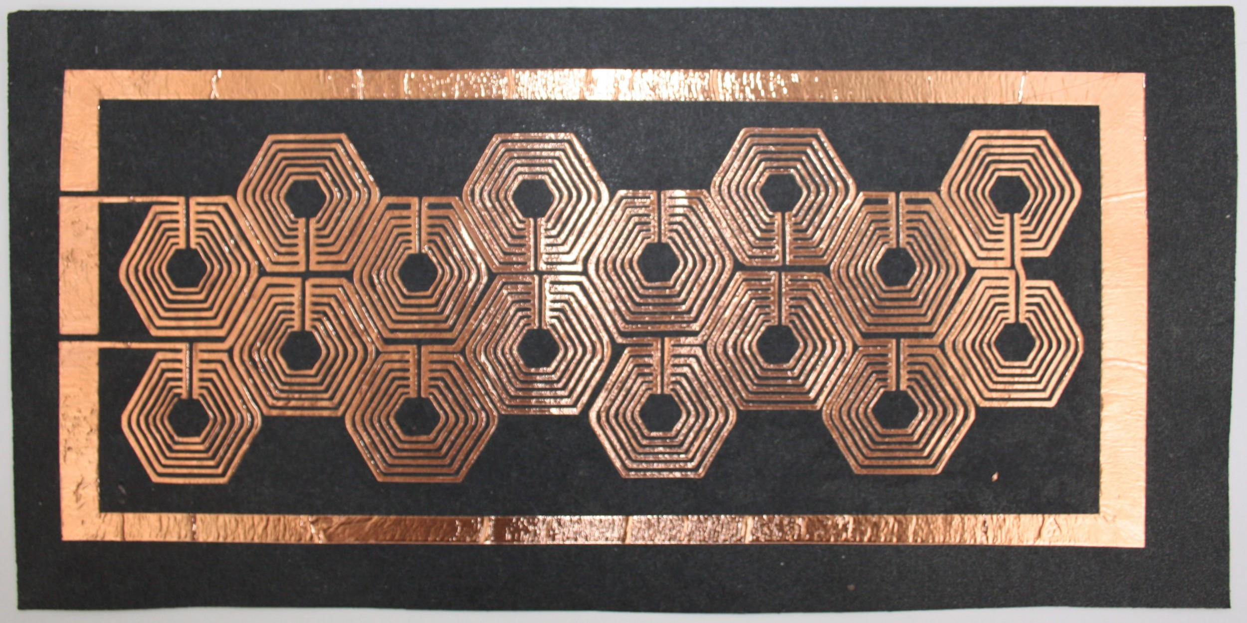 copper foil on paper